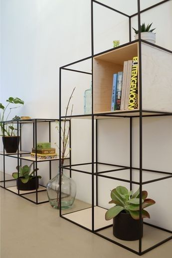 Beautiful shelf built up symmetrically